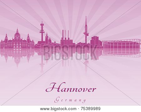 Hannover Skyline In Purple Radiant Orchid