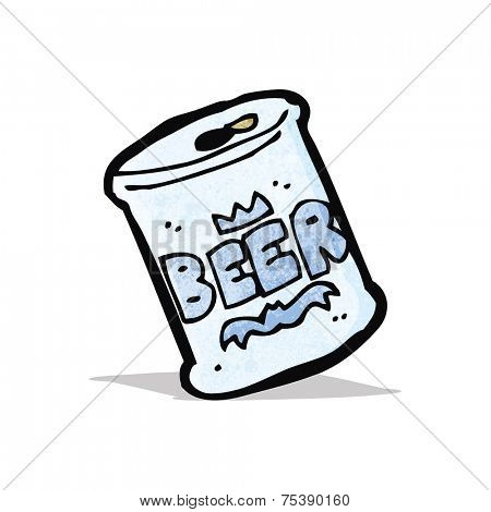 cartoon can of beer