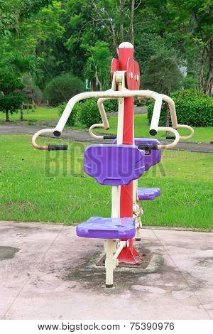 Fitness Equipment In Public Park