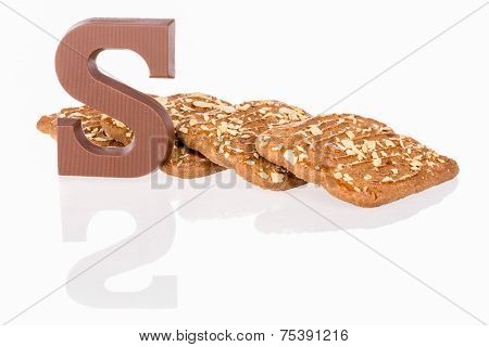 Chocolate Letter And Biscuits Dutch Sweets