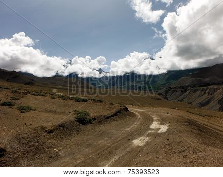 Trading Route In The Lower Mustang Himalayan Area
