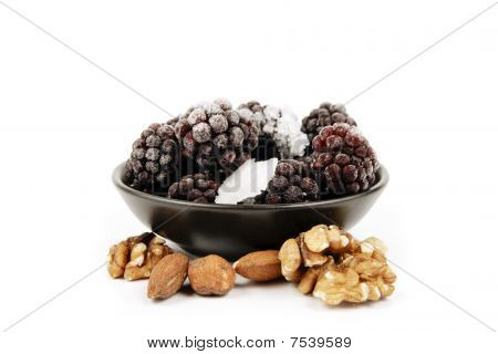 Frozen Blackberries And Nuts