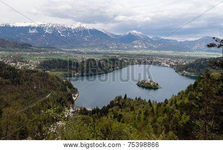 Landscape Of Bled Lake