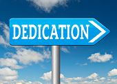 Постер, плакат: dedication motivation and attitude dedicate yourself motivate self for a job letter a talk or task y