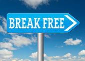 picture of quit  - break free from prison pressure or quit job running away towards stress free world no rules  - JPG