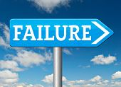stock photo of fail job  - failure fail exam road sign arrow or attempt can be bad especially when failing an important task or in your study failing an exam - JPG