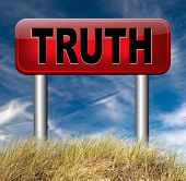 stock photo of honesty  - truth be honest honesty leads a long way find justice law and order  - JPG