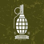 foto of grenades  - Hand grenade vector icon - JPG