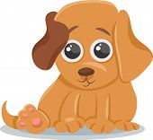 picture of baby dog  - Cartoon Illustration of Cute Little Baby Animal Dog or Puppy - JPG