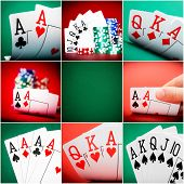 Постер, плакат: set of different actions and scenes in casino