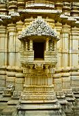 stock photo of jain  - Shrine in Ranakpur Jain temple Rajasthan India - JPG