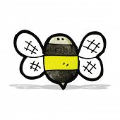 image of bumble bee  - cartoon bumble bee - JPG