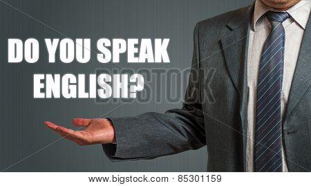 Man Presenting English Language