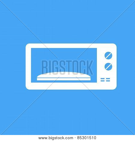 Microwave On Blue Background.vector Illustration.