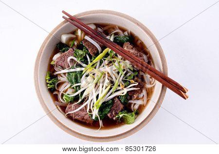 Short Rib Beef Pho Dish