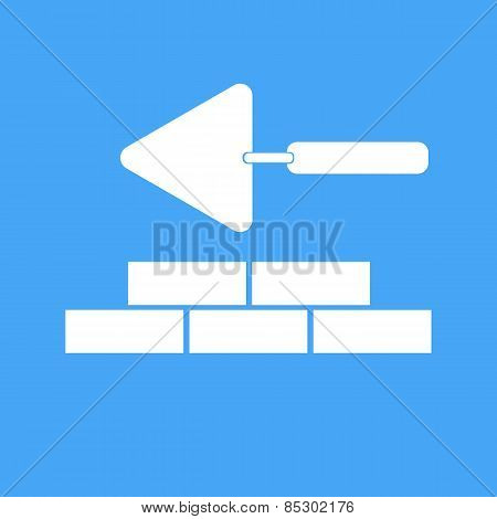 Bricklaying And Trowel. Vector Illustration.