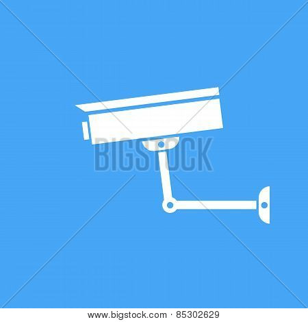 Camera Surveillance Protection. Vector Icon.
