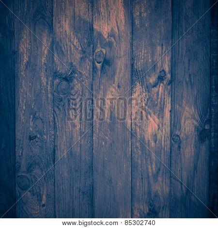 Old Indigo Wooden Surface