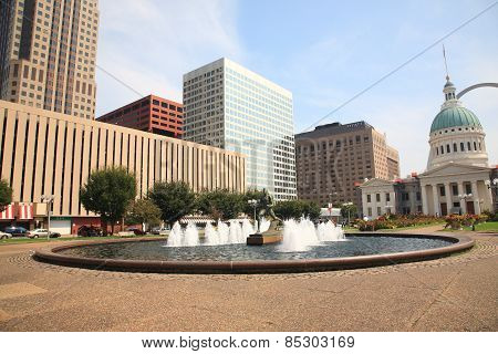 St. Louis - Kiener Plaza Fountain