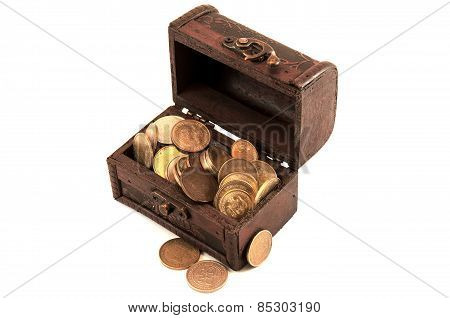 Small chest of coins
