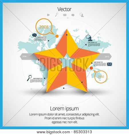 Infographic for annual report. Vector