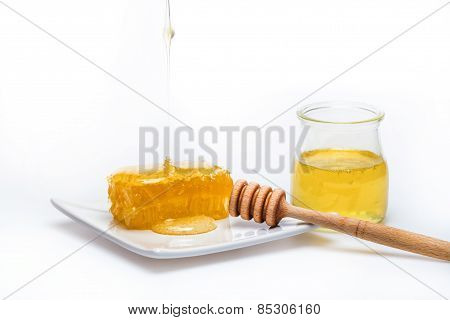 Honey Dipper And Honeycomb