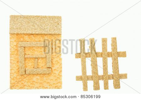 Dietary bread shaped like a house