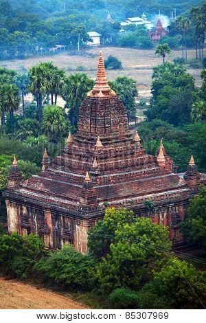 Ancient Pagoda In Bagan Archaeological Zone, Myanmar