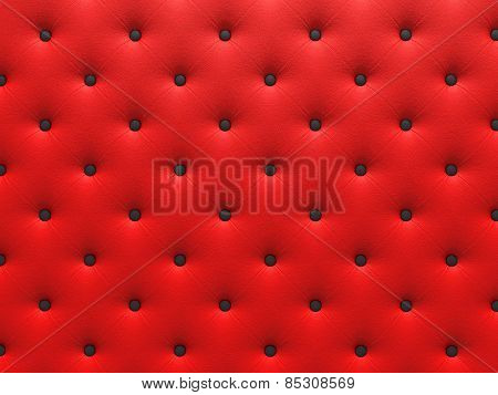 Buttoned red Texture.