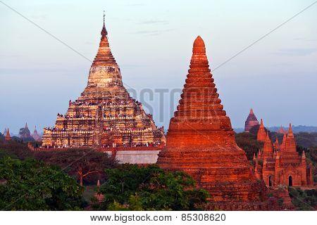 Shwesandaw Pagoda In Bagan, Myanmar