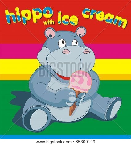 Hippo Wich Ise Cream - Grey.eps