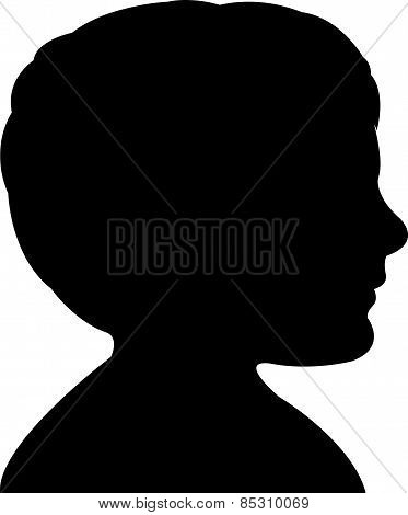 a boy head silhouette vector