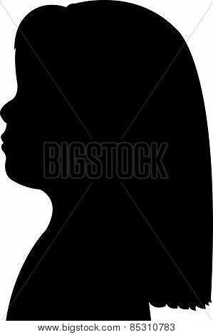 a child head silhouette vector