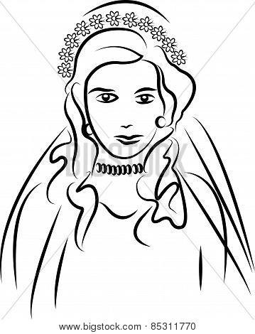 vector bride