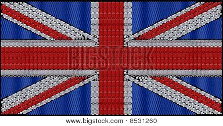 Great Britain Flag Union Jack Assembled Of Diamonds