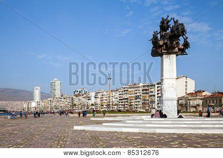 Gundogdu Meydani Monument, Izmir, Turkey