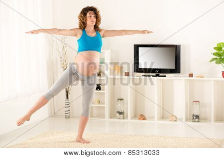 Pregnant Women Exercise At Home
