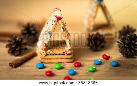 Gingerbread man cookies star anise cinnamon