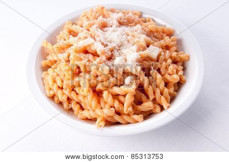 Gemelli Pasta With A Light Tomato Sauce