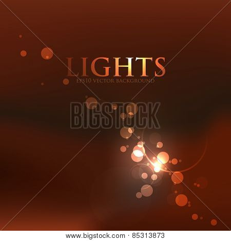 elegant defocused night lights, bokeh. eps10 vector