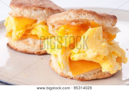 Egg, Cheese, And Biscuit Breakfast