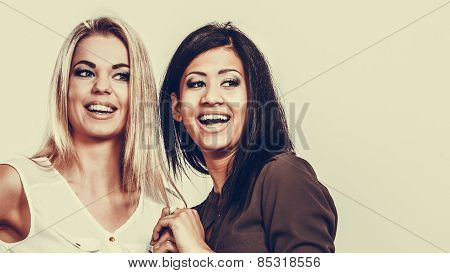 Women Multiracial Friends Having Fun