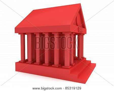 Red Bank Building 3D Icon
