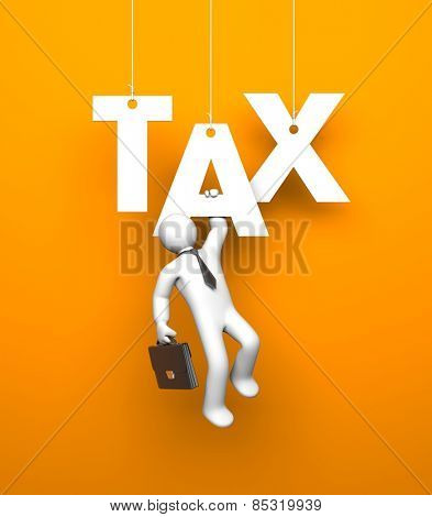 Tax. Business metaphor