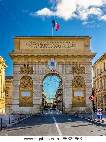Porte Du Peyrou, A Triumphal Arch In Montpellier - France
