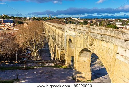 Saint Clement Aqueduct In Montpellier, France