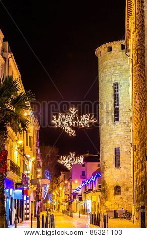 Street In Narbonne On Christmas - France, Languedoc-rousillon