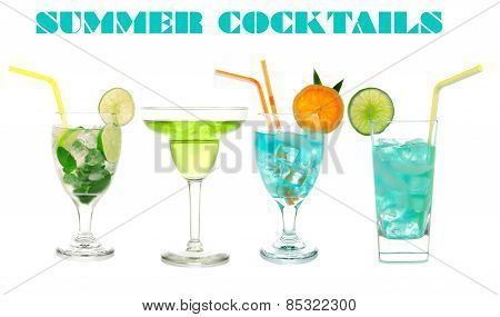 Green Cocktails Blue Hawaiian Cosmopolitan Mojito Tropical Cocktail Drinks