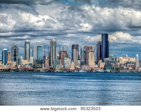 Seattle Cityscape Hdr