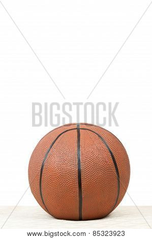 Basketball On Vertical White Background